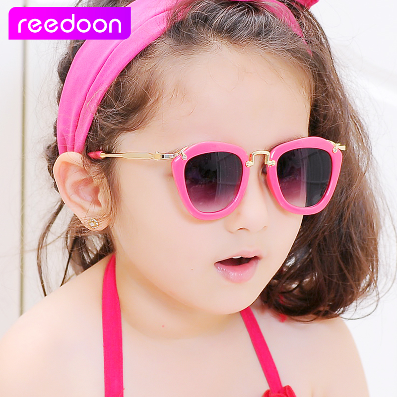 f5794d45b51 Reedoon 2016 Kids Sunglasses Children Boys Girls Sun Glasses Child Plastic  Frame Rivet Colorful Goggles SHADES Eyewear UV400