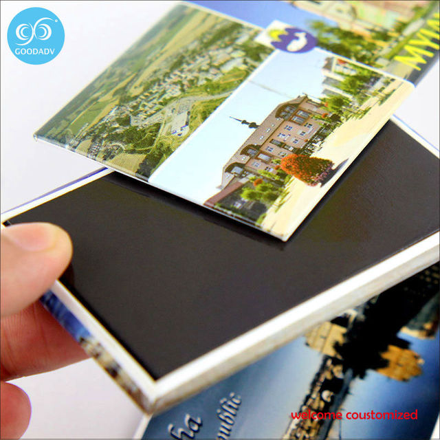Home decoration small gift magnetic fridge magnet 3d custom refrigerator stickers for promotional