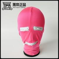 Glue the dew mouth eye zipper head