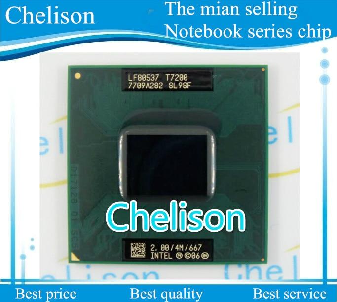 100% NEW CPU laptop Core 2 Duo T7200 CPU 4M Socket 479 Cache/2.0GHz/667/Dual-Core Laptop processor support 945