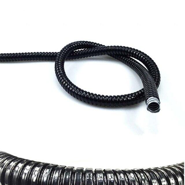 1 mét Nhựa tráng ống kim loại Threaded ống sóng ống dây vỏ rắn da giữ lại ống đường kính 6mm-8mm-10mm-12mm-75mm