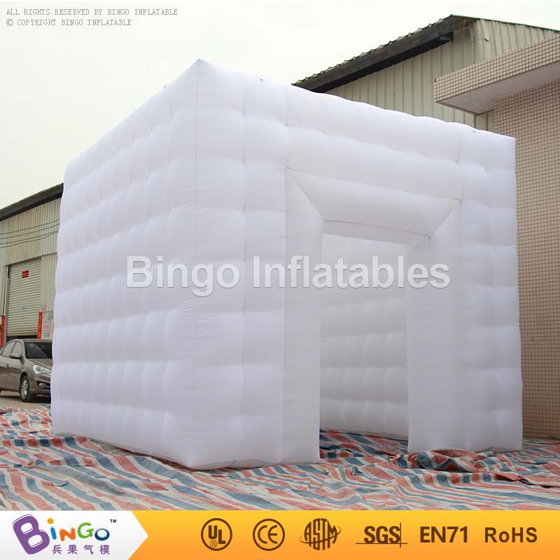 Portable photo booth giant inflatable tents Square Booth 4*4*3.5M for Wedding Party N Show With 2 removable doors toy tent wonderful cube led inflatable tent inflatable trade show house inflatable photo booth toy tent
