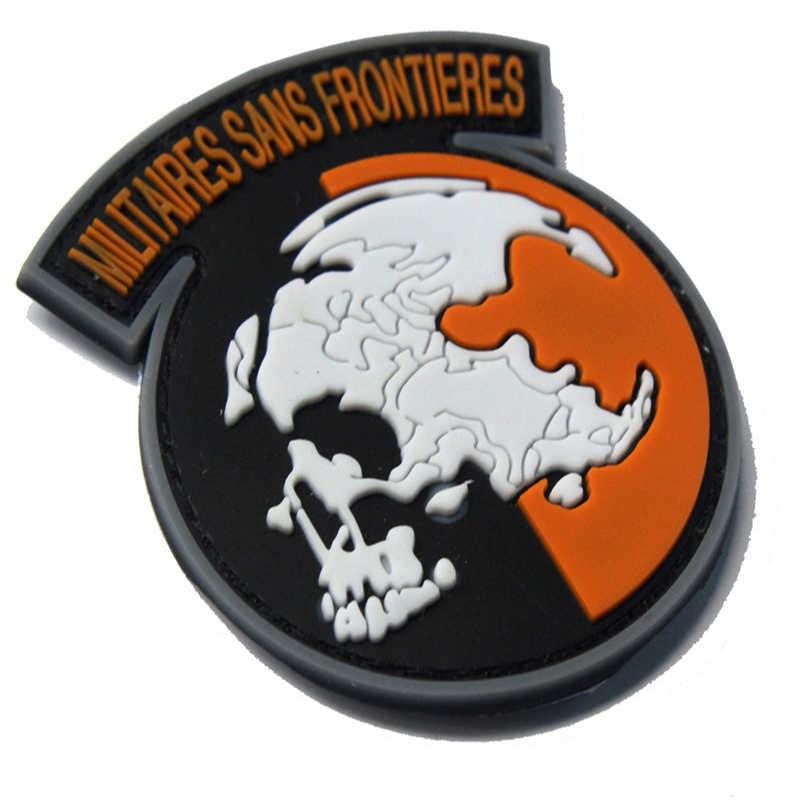 Huy Hiệu mới Hợp Kim Thiết Bị Không Biên Giới Quân Đội Pvc Quân Sự Chiến Thuật Trang Phục Băng Tay Ba Lô Phụ Kiện Biểu Tượng Huy Hiệu 6*7 cm