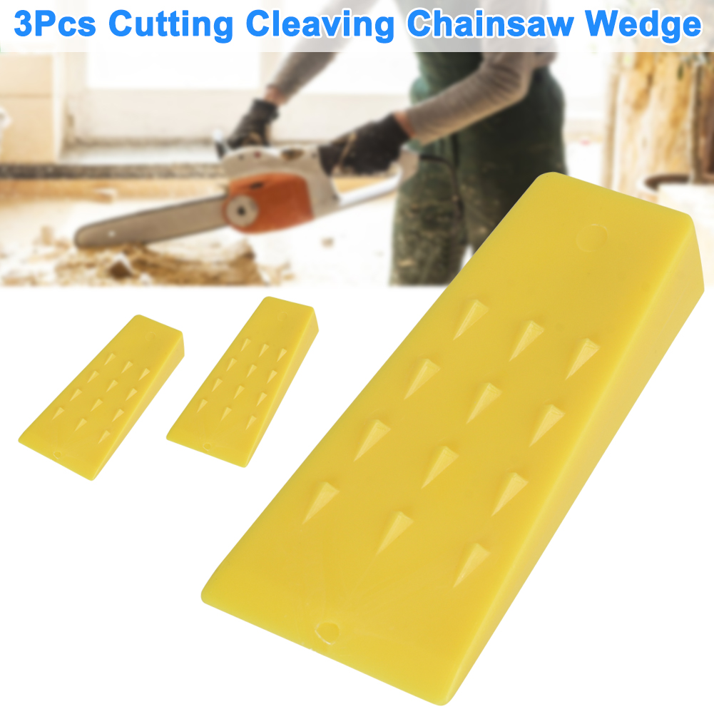 3Pcs Tree Felling 5Inch Wedges For Logging Falling Cutting Cleaving Chainsaw TN88