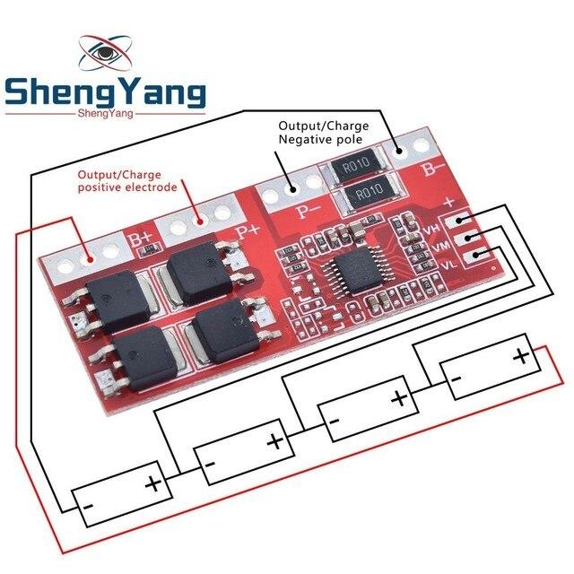 Batteria al litio 4s 30A ad alta corrente agli ioni di litio 18650 modulo scheda di protezione caricabatterie 14.4V 14.8V 16.8V sovraccarico su corto circuito