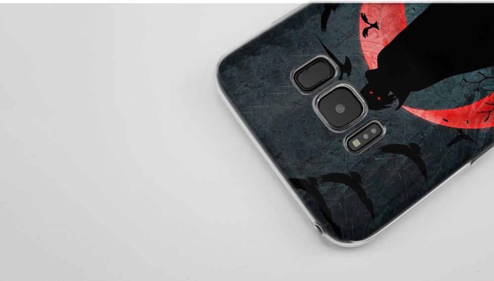 KMUYSL Hokage Naruto Kakashi TPU transparente suave de la cubierta de la caja de Coque para Samsung Galaxy S9 S8 más S7 S6 borde