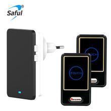 Saful водонепроницаемый беспроводной дверной звонок eu plug