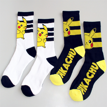 New Pokemon Pikachu Cotton Jacquard Socks Perfect Quality Clothing Fun Novelty Harajuku Winter Fun Women Socks Damesokken(China)