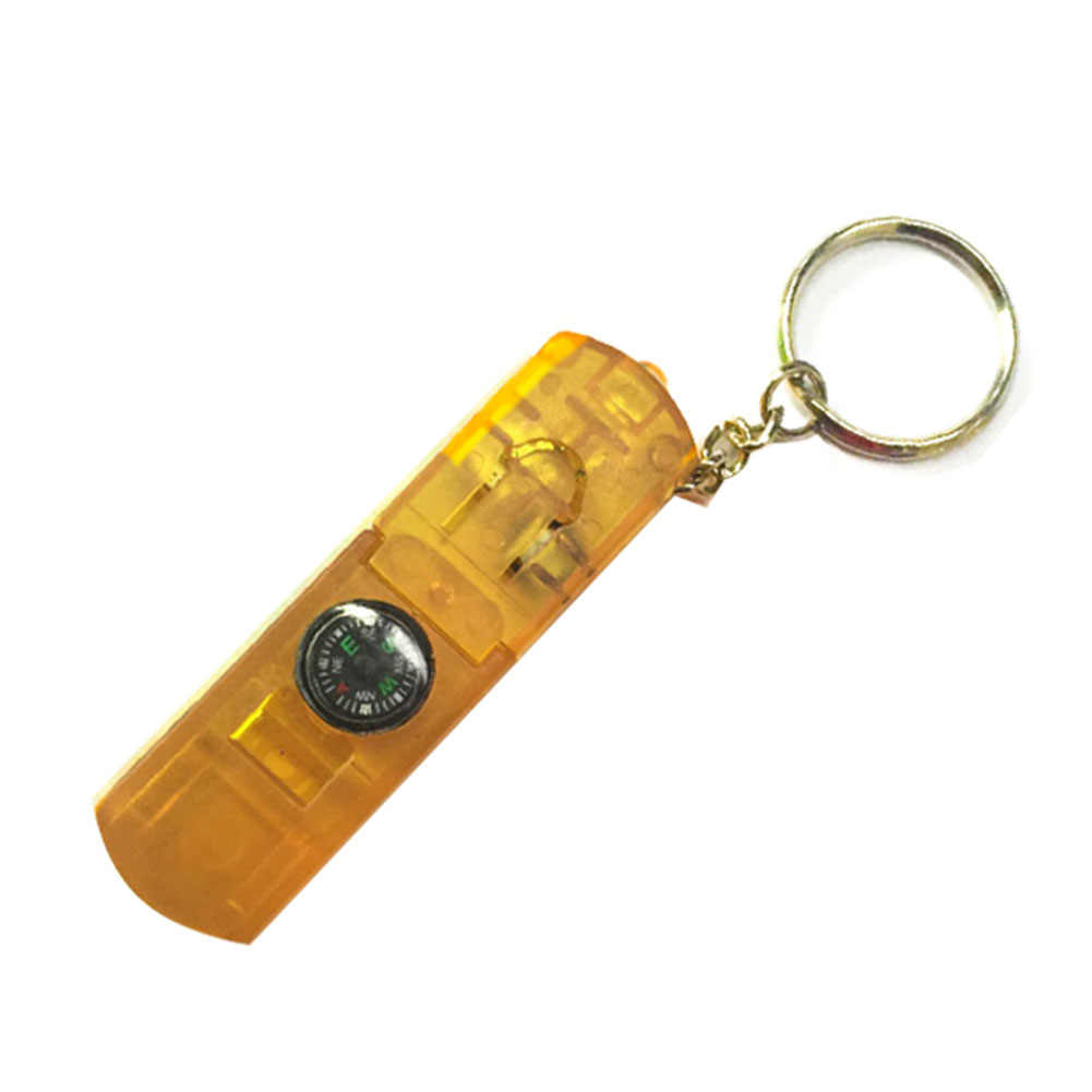 4 In 1 Multifunctional Mini Torch Convenient Survival Kit Equipment Emergency Whistle Led Flashlight Accessories With Keychain