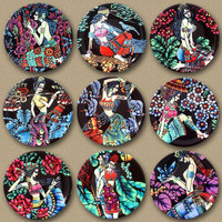 Creative Colorful Ethnic Style 8 Inches Ceramic Wall Decoration Hanging Plate