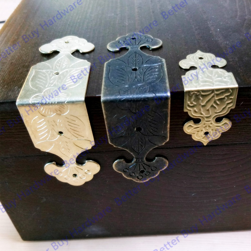 8pcs/lot Decorative Bronze Antique/Golden  Style Box Corner bracket  box wrap box corner protection claw of dragon style rings golden bronze 3 pcs