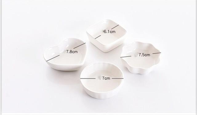 1 PC Creative ceramics  seasoning small dish Round Polygon square Japanese style color sauce sauce dish seasoning plate 3