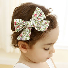 Baby Girl Headbands Newborn Hairband Flora Baby Headband Girls Bebe Toddler Bow Knot Infants Ornament Headwear Accessories WT187(China)