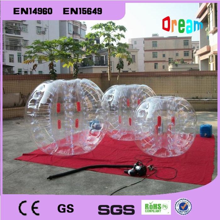 شحن مجاني 0.8 ملليمتر 100٪ pvc 1.5 متر نفخ فقاعة كرة القدم الكرة فقاعة كرة القدم الوفير الكرة فقاعة الجسم zorb الكرة