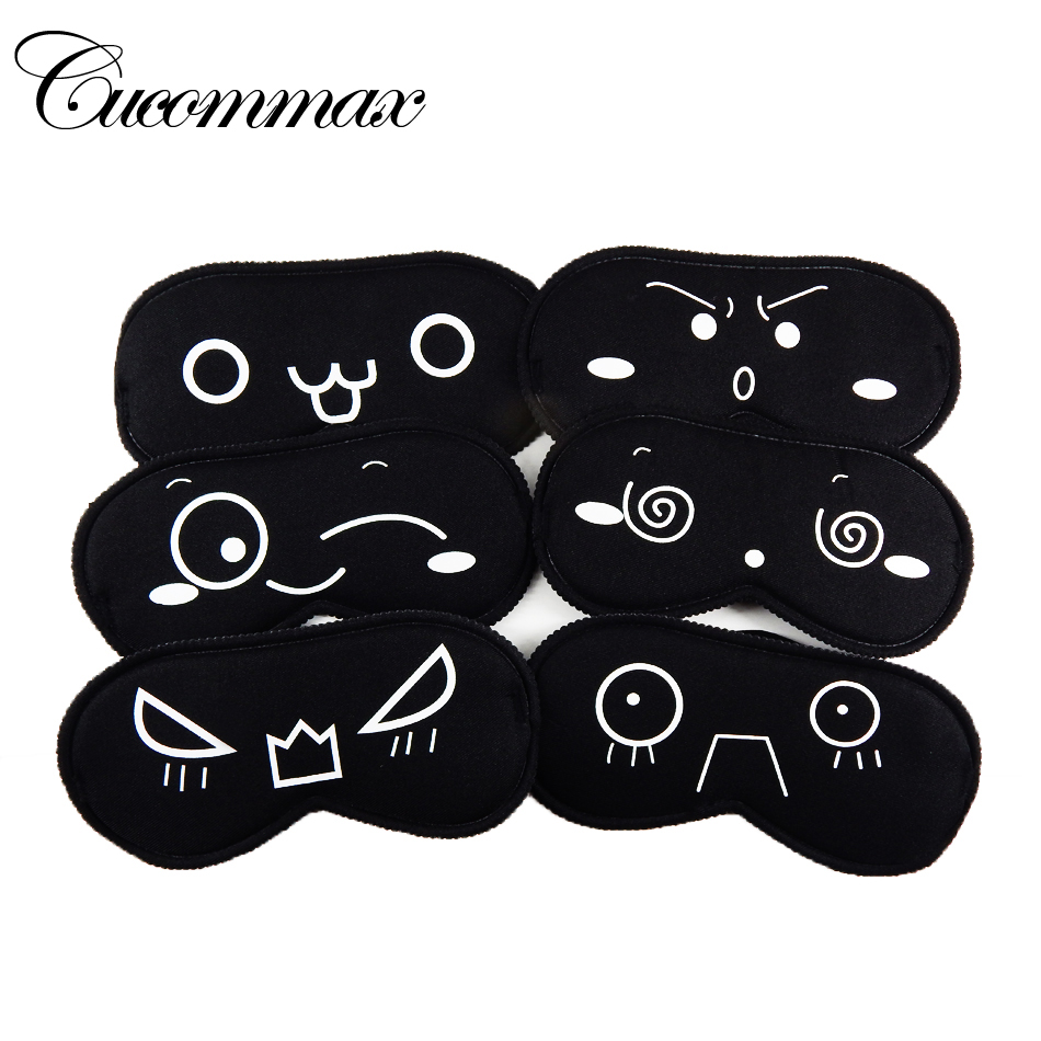Cucommax Sleeping Eye Mask Black Eye Shade Sleep Mask Black Mask Bandage on Eyes for Sleeping Emotion Sleep Mask-MSK09