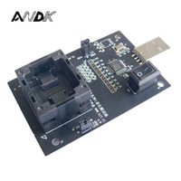 EMMC100 Socket USB Interface For BGA100 Testing Nand Flash Size 12x18mm Pitch 1 0mm EMMC Reader