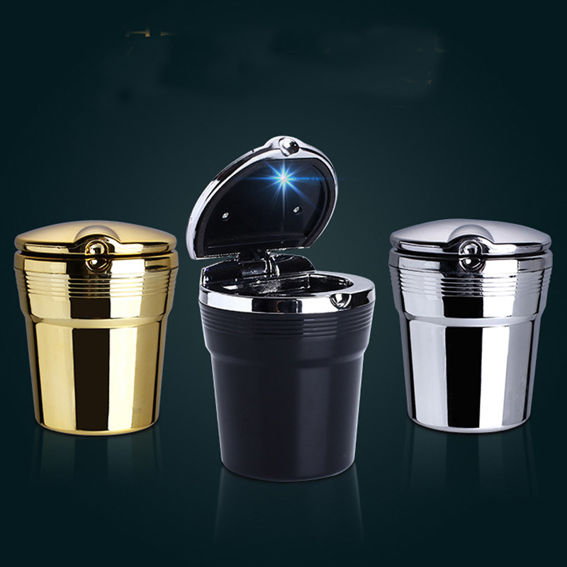 Car LED Light Ashtray Auto Travel Cigarette Ash Holder Cup Fashion Led Car Ashtray Portable Car Accessories Led Car Ashtray