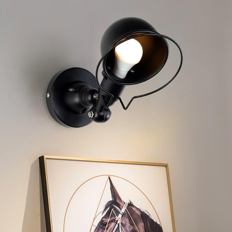 Nordic Classico regolabile industriale moderna Lungo altalena braccio nero lampada da parete sconce vintage E27 luci per Bagno camera da letto foyer - 2