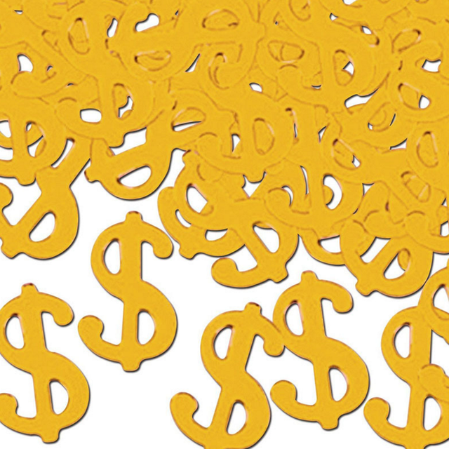 1pack Funny Dollar Sign Confetti Money Las Vegas Party Adult Birthday Wedding Bridal Shower Confettis Table Scatter Decor