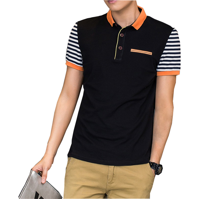 Grandwish 2017 New Stand Collar Men's POLO Shirts Summer Style Short Sleeve Shirts Male Camisas Polo Plus Size  M - 4XL, PA199