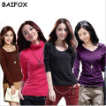 BAIFOX 2017 High Quality Fashion Spring Autumn Winter Sweater Women Wool Turtleneck Pullovers Plus Size Women's Solid Sweaters