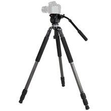 JY0509C Hydraulic Video Timelapse Camcorder Tripod with 65mm Bowl Tripod Head,Birding Tripod for DSLR Canon Nikon Sony Cameras