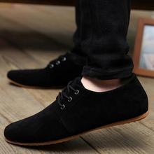 Плюс размер 38-46 2017 мужская повседневная обувь Дышащая моды бренд ходьба мужчины обувь замши обувь для мужчин Оксфорд обувь