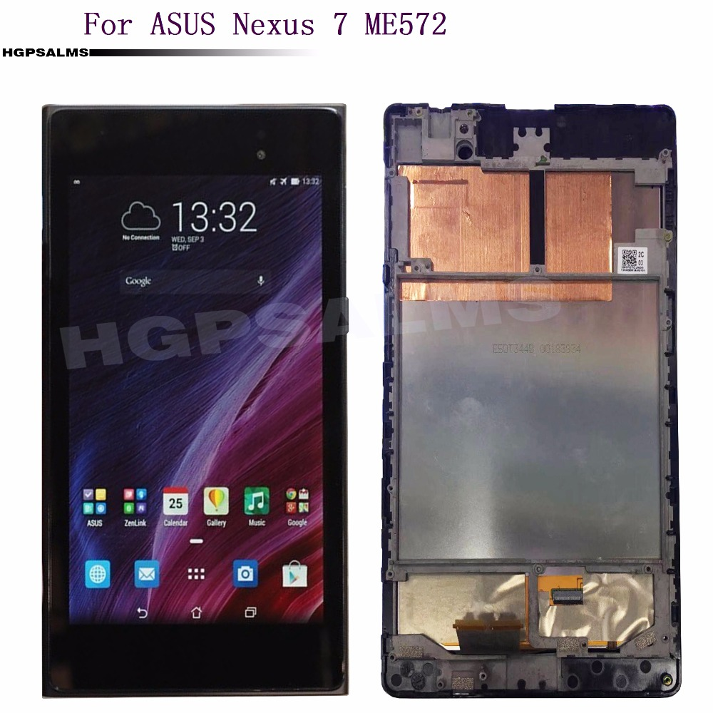 For Asus Nexus 7 2nd ME572 ME572C ME572CL LCD Display Touch Screen Digitizer Sensor Glass Assembly Frame Replacement