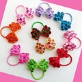 """16pcs Hand Customize Hair Accessories High Grosgrain Ribbons Elastics BLESSING 3.5"""" Crystal Bow Free Shipping For Girl /Women"""