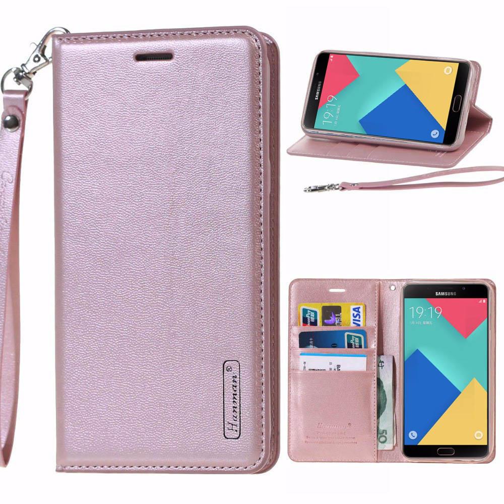 Luxury Original Hanman Genuine Leather Wallet Flip Cases Cover sFor Samsung Galaxy C9 Pro SM-C9000 6.0 Mobile Phone Bags Coque