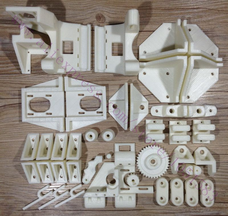 NEW Reprap Adapto 3D Printer RP Parts Printed Parts Kit ABS Plastic Parts Set Free Shipping