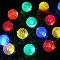 1 Unidades Nueva 30 LED Luckled Globo Al Aire Libre Luces Solares de la Secuencia Bola de Cristal Iluminación Decorativa VEN53 T50