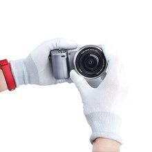 Высокое качество Эластичность Вязание антистатические Камера чистые перчатки для Sony Nikon объектив камеры Canon DSLR очистки up фото Перчатки