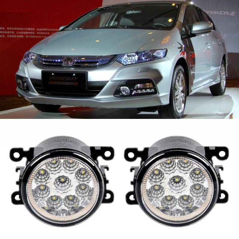 Car Styling DRL For Honda Insight 2010 2014 9 Pieces Leds