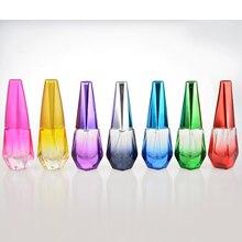 1 Unidades Coulored Portable de la Manera de Cristal de Perfume Recargable Botella Con Atomizador De Aluminio Vacía Envase Cosmético De Viaje