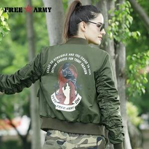 Image 5 - שחור מעיל נשים כיסים מקרית אופנוע מעילי נשים סתיו ירוק מעיל Rip שרוול מפציץ מעיל נשי הלבשה עליונה מעילים