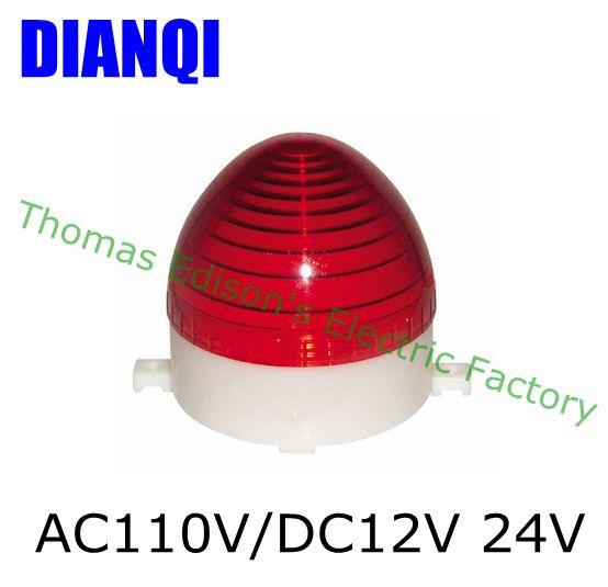 AC 110V/DC 12V/24V LTE-3072 LED Flashing warning Light traffic light S-60