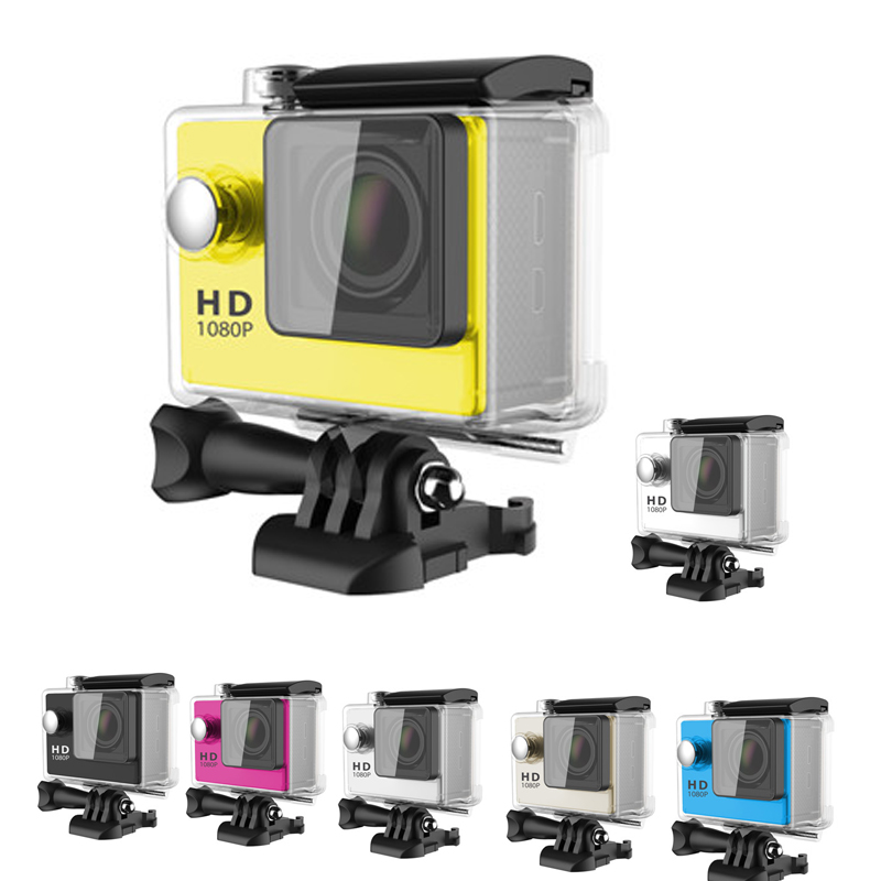 Freeshipping Cheap Waterproof Action Camera A8 Full HD 1080P Sports Video Recorder 2 0 30meters Waterproof