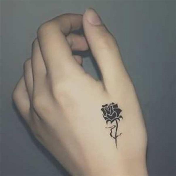 Fille Rose Fleur Conception Tatouage Temporaire Autocollants Femmes