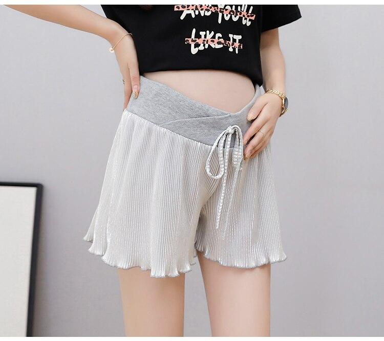 Брюки для беременных женщин, шорты, одежда для мам, юбка для беременных женщин, поддельные два предмета, брюки для подтягивания живота
