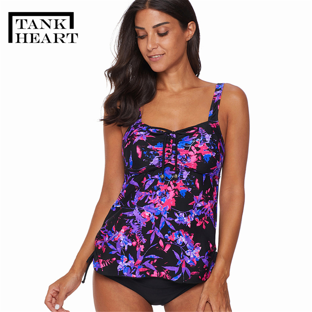 Print Swimming Suit For Women's Two Piece Bikini Plus Size Swimwear Tankini Swimsuits Women Ff Swim Suit Printed Two Piece Skirt
