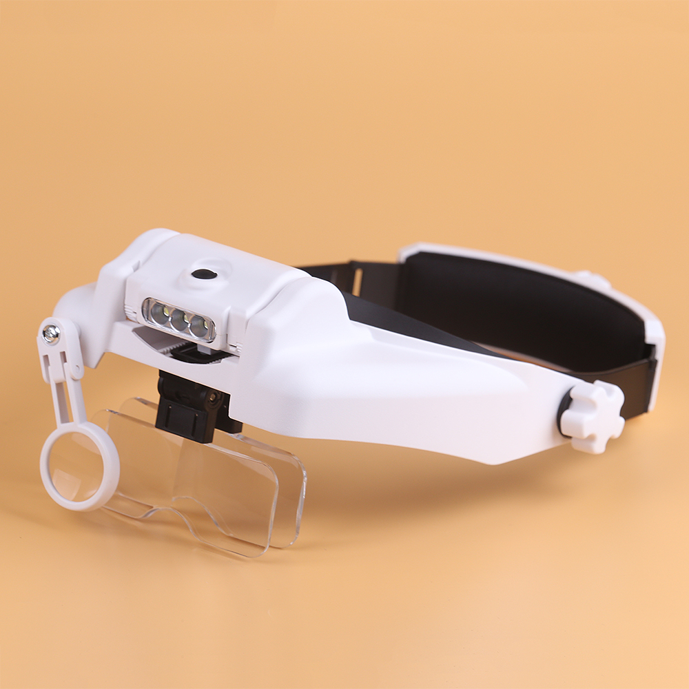 5 Lens LED Head Magnifying Glasses Headset Headband Magnifier Rechargeable