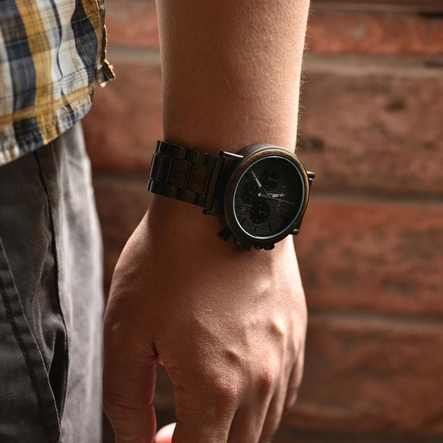 Chronograph  Luxury Stainless Steel Quartz Wristwatches