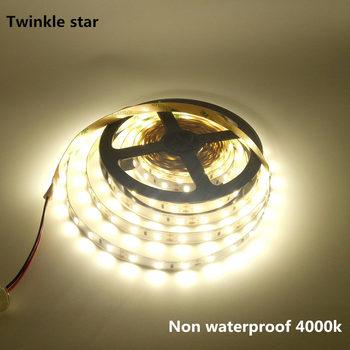 цена на led strip light 5630 5730 smd 300led 5m waterproof ip65 and Non waterproof ip20 dc 12v 4000k nature white flexible led tape rope