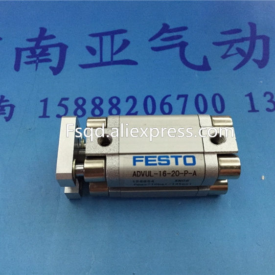 ADVUL-16-10-P-A pneumatic air tools pneumatic tool pneumatic cylinder pneumatic cylinders air cylinder FEST0 advul 16 20 p a festo thin type cylinder with air cushion air cylinder pneumatic component air tools