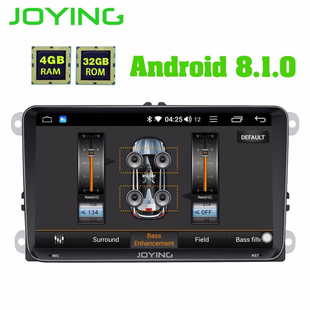 JOYING 4GB RAM Android 8 1 car autoradio stereo DSP for Golf Caddy EOS head unit