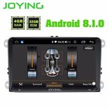 JOYING 4 GB di RAM Android 8.1 auto autoradio stereo DSP per il Golf Caddy EOS unità di testa per Passat Polo Tiguan GPS player per Skoda