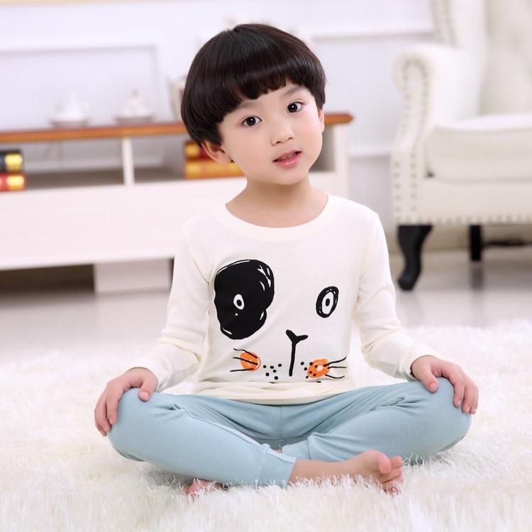 Autumn And Winter Child Suit Pure Cotton Wear Children Home Serve Suit Child Underwear Underpants 2 Pieces Kids Clothing Sets