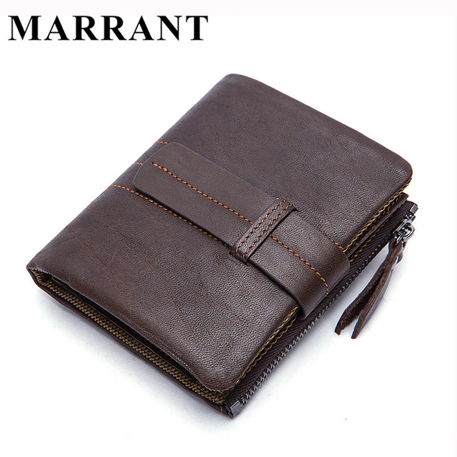 MARRANT Short Wallet Men Wallets Genuine Leather Wallets Fold Wallet Clutch Male Purse Carteira Photo Card Holder Clutches