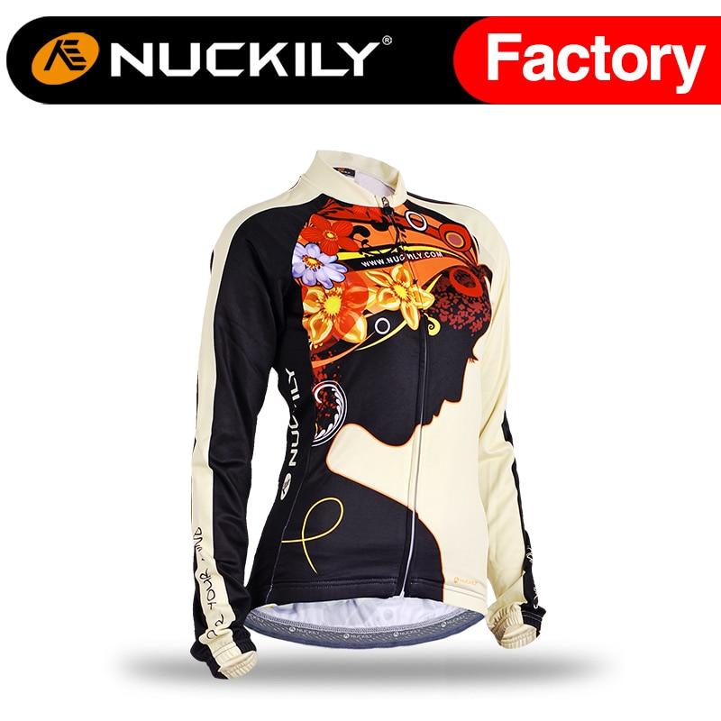 ФОТО Nuckily Women's Winter thermal fleece cycling jersey racing cycle bike jersey   GE006